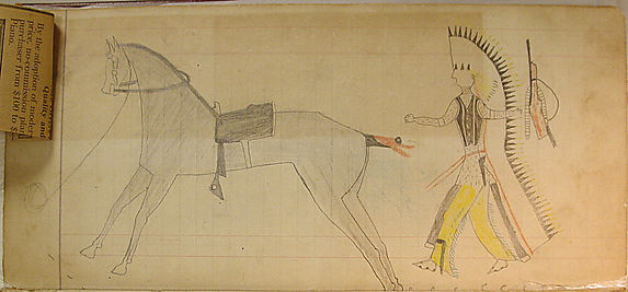 Indian, Gun, and Horse