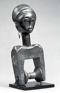 Heddle Pulley with Female Figure