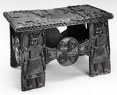 Stool: Oba with Mudfish Legs (Agba)