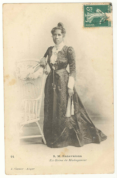 Her Majesty Ranavalona, former queen of Madagascar [b. 1861; r. 1883-1897; d. 1917]