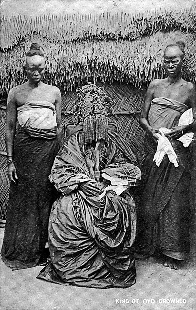The king of Oyo crowned (Adeyemi I Alowolodu, r. 1876–1905)