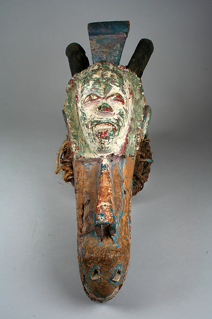 Headdress: Horned Animal Head and Mask