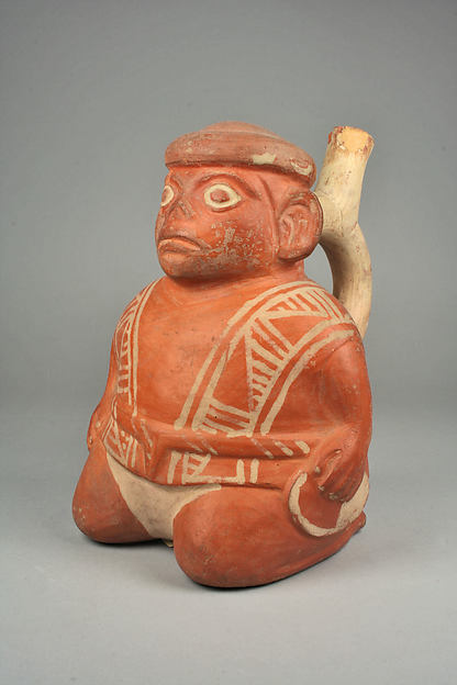 Bottle, Seated Figure