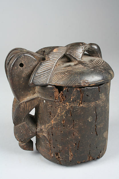 Lidded Vessel: Birds