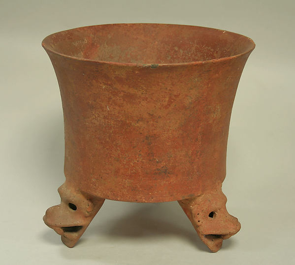 Tripod Vessel with Jaguar Head Feet