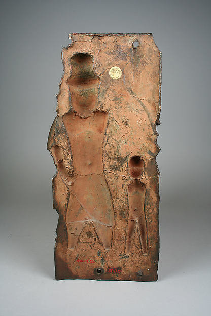 Plaque: Iyase with Sword and Attendant