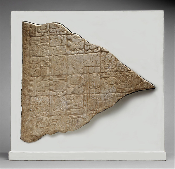 Stela Fragment with Glyphs