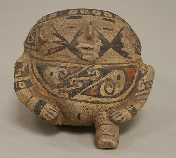 Painted Vessel in the Form of a Seated Woman