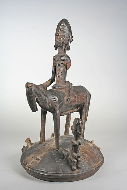 Lidded Vessel: Equestrian Figure