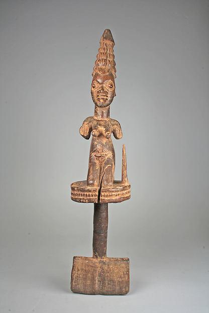 Sango Staff: Female Figure (Ose Sango)