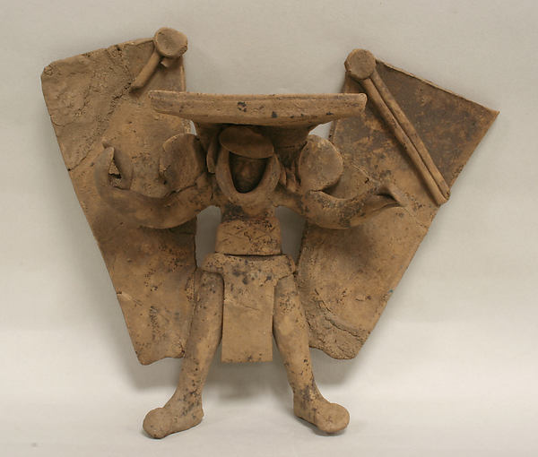 Standing Ceramic Winged Figure