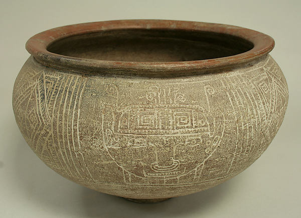 Incised Bowl with Ring Base