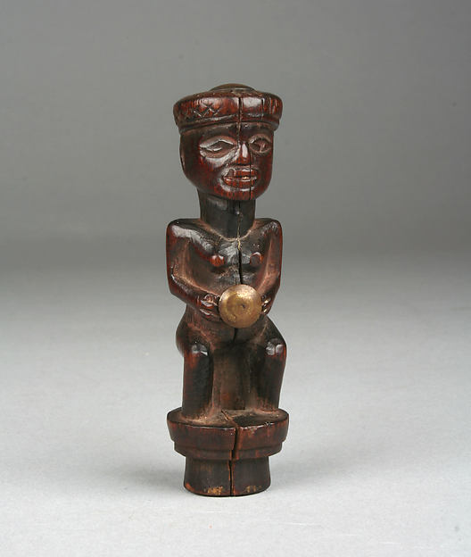 Royal Whisk Handle: Female Figure
