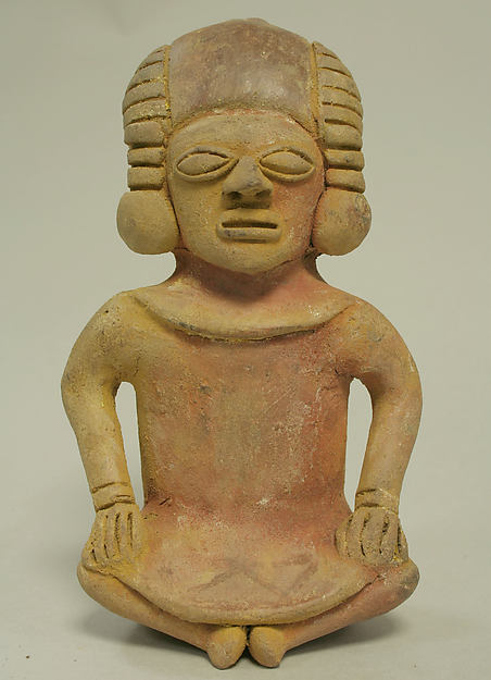 Ceramic Whistle in the Form of a Seated Male