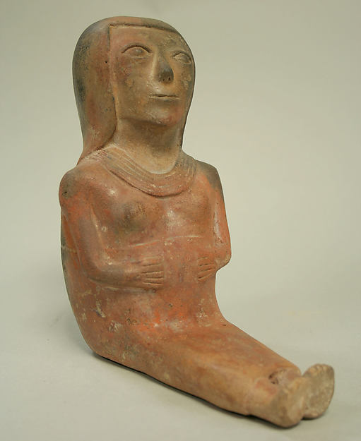Ceramic Seated Female Figure