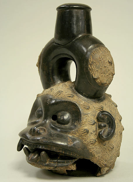 Stirrup Spout Bottle: Monkey Head