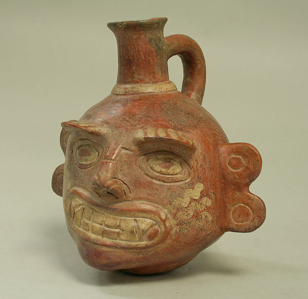 Single Spout Bottle with Fanged Face