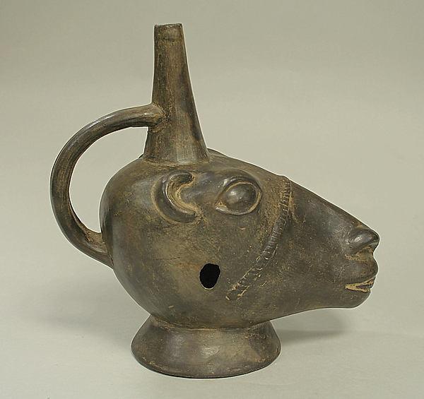 Stirrup Spout Bottle with Llama Head