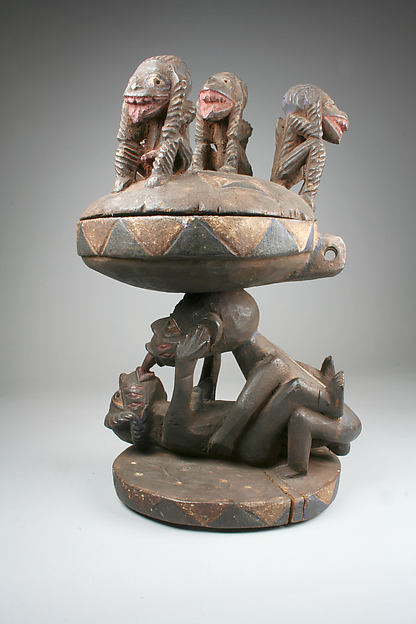 Lidded Vessel: Couple