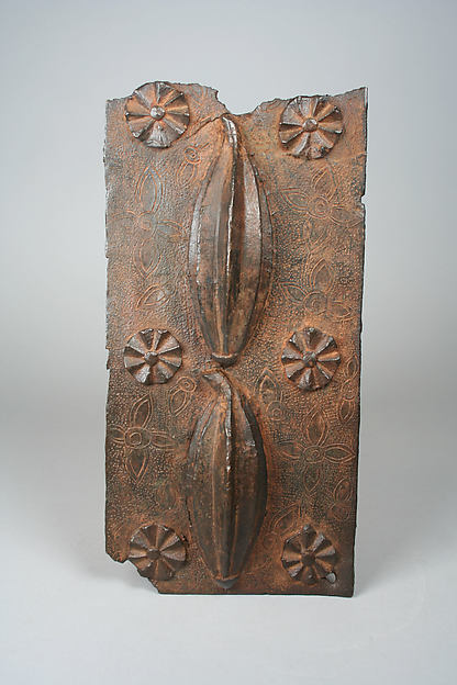 Plaque: Two Fluted Gourds
