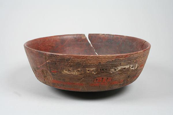 Incised bowl with eye motif