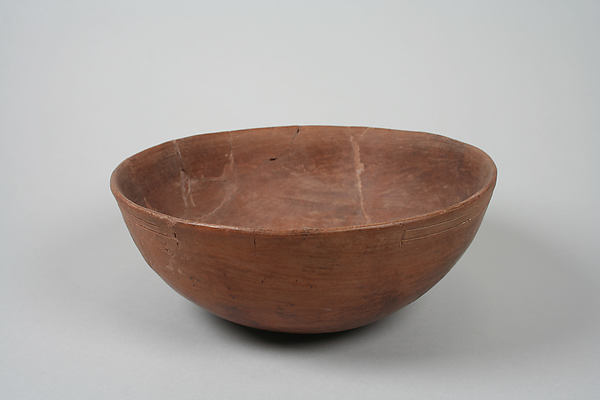 Undecorated painted bowl