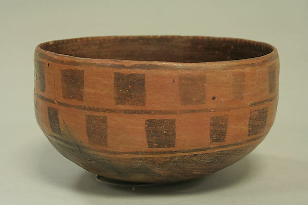 Painted bowl with stylized monkeys