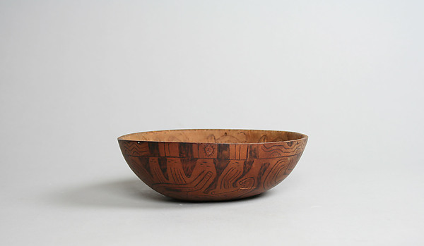 Incised and Pyroengraved Bowl with Monkeys