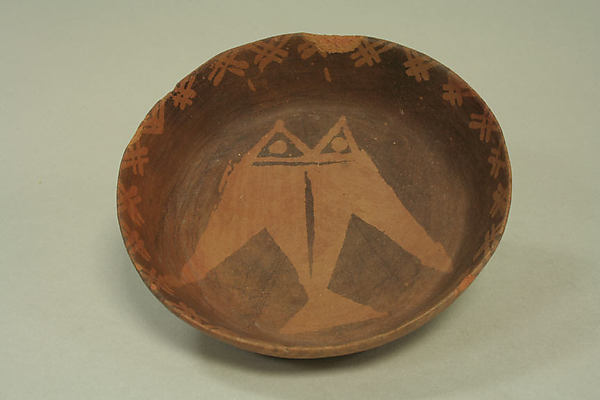 Shallow Bowl with Geometric Design