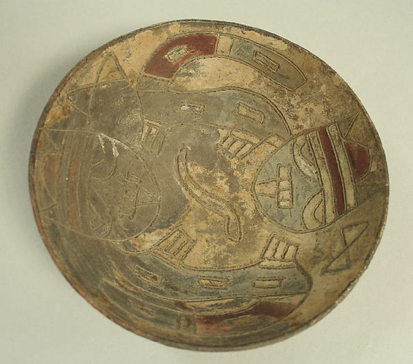Incised Bowl with Animal and Geometric Motifs