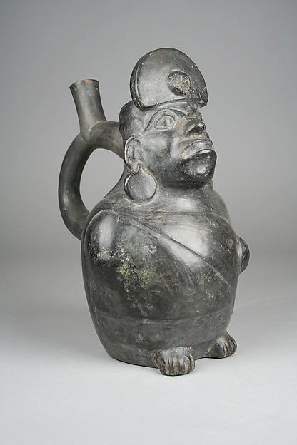 Stirrup Spout Bottle with Owl Head