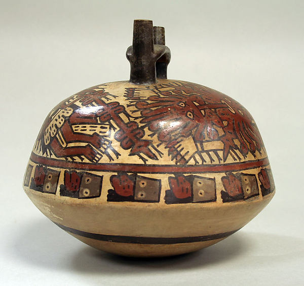 Double Spout Bottle, Killer Whale Motif