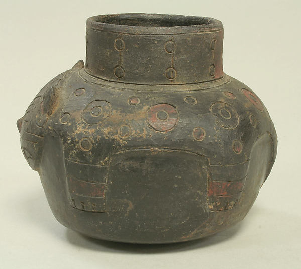 Single Spout Jar in the Form of a Feline
