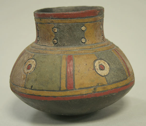 Single Spout Painted Jar