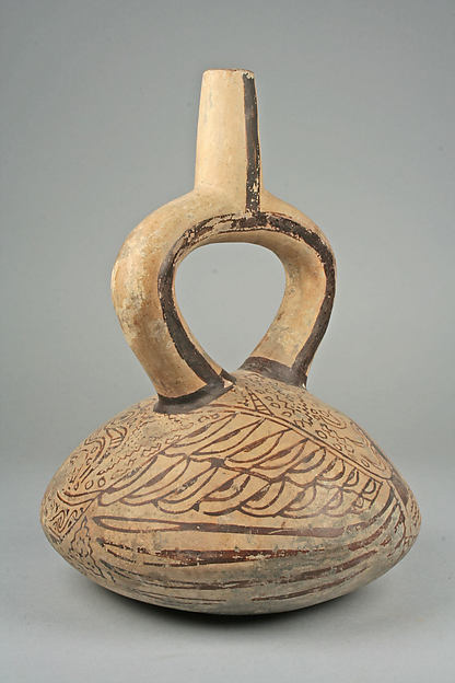 Stirrup Spout Bottle with Birds