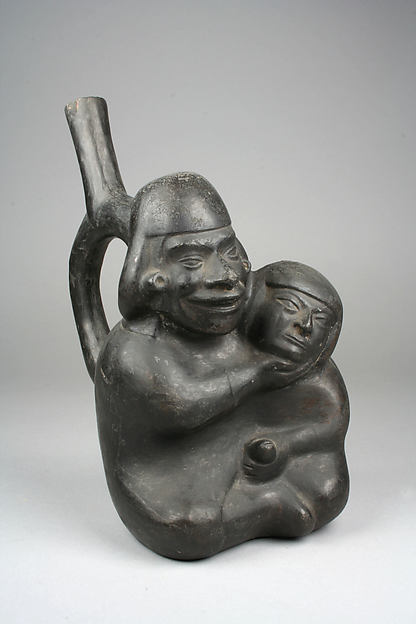 Stirrup Spout Bottle with Couple