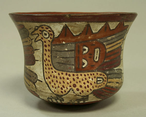 Painted Bowl with Birds