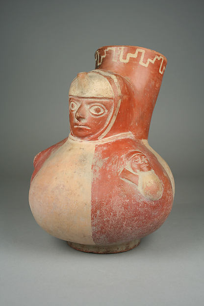 Single Spout Bottle with Gadrooned Figure