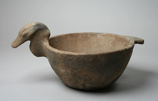 Bowl, Bird Head on Rim