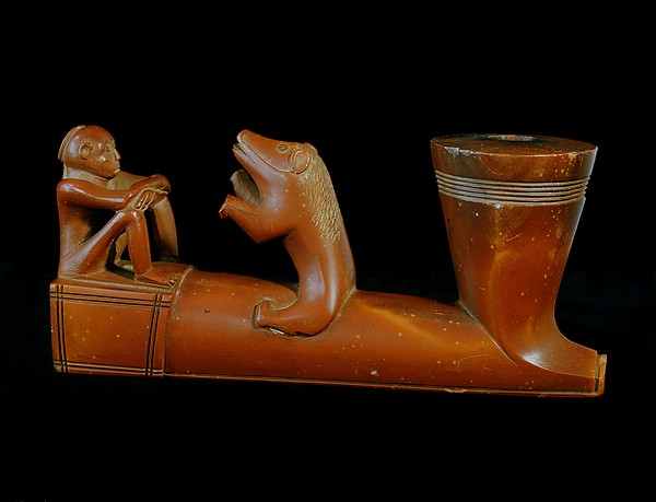 Pipe Bowl Illustrating Pawnee Myth