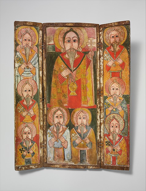 Icon Triptych: Ewost&#39; atwos and Eight of His Disciples