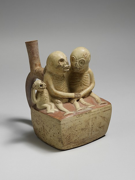 Bottle, Skeletal Couple with Child