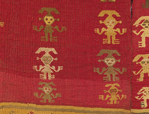 Tunic with Crescent Headdress Figures