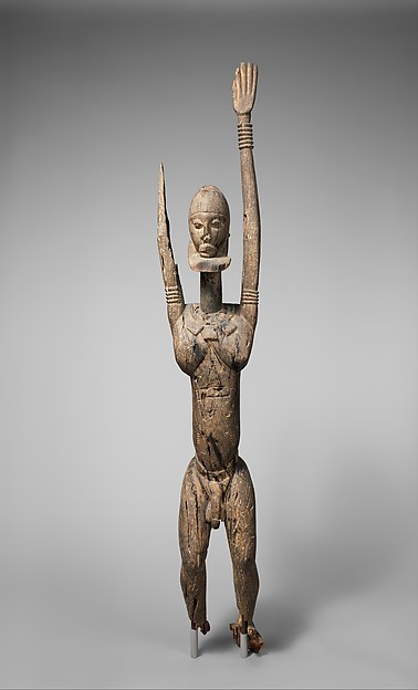 Male Figure with Raised Arms