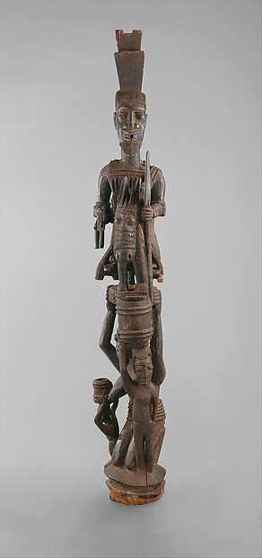 Veranda Post: Equestrian Figure and Female Caryatid
