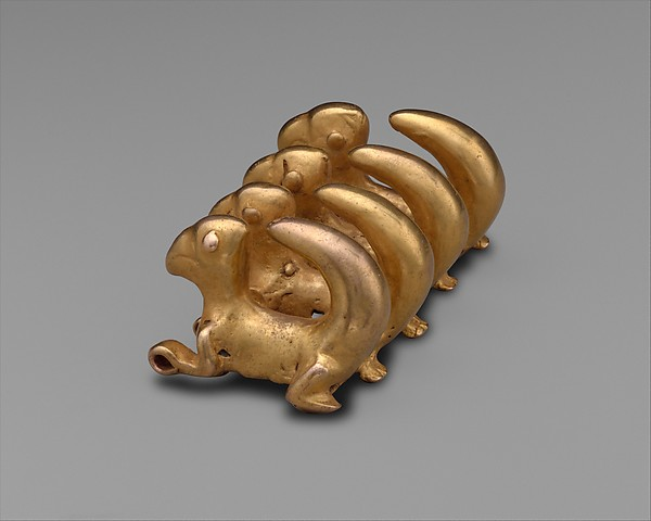 Curly-Tailed Animal Pendant