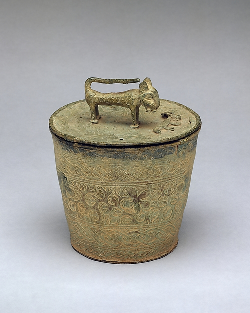 Lidded Vessel: Leopard and Prey