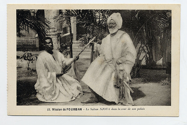 Sultan Njoya in the courtyard of his palace at Foumban (r. ca. 18851933)