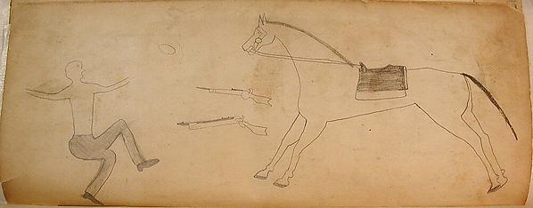 Man, Guns, and Horse