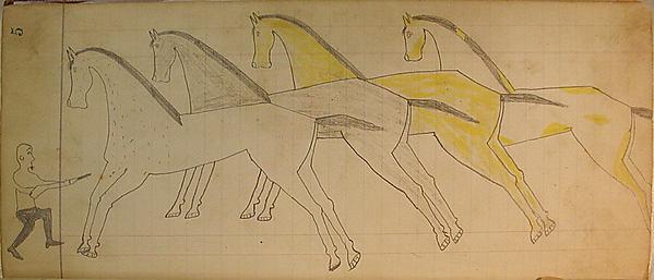 Man with Gun, Four Horses